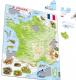 Map of France with Animals - Frame/Board Jigsaw Puzzle 29cm x 37cm (LRS  K49-FR)